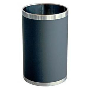 Waste-paper bin with imitation leather cover