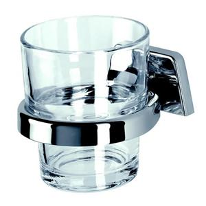 Tumbler holder with fortified glass