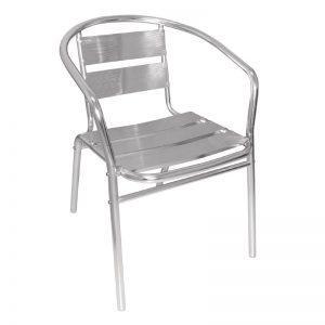 Stapelbare aluminium stoel-0