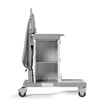 Housekeeping trolley with doors