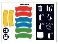 Abfallbehälter für Abfalltrennung.-3550