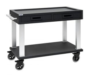 Trolley soft touch - zwart of wit-0
