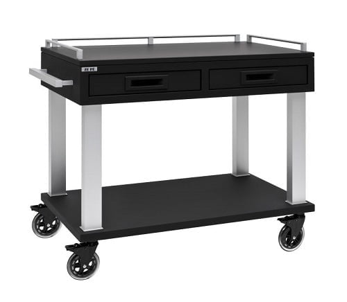 Trolley soft touch - zwart of wit-5591