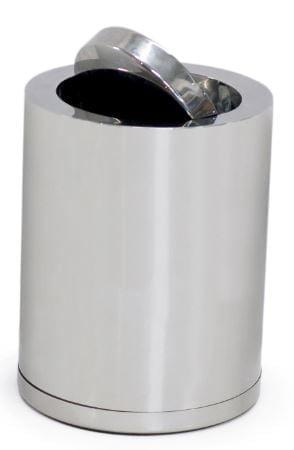 Afvalbak met deksel - RVS-0