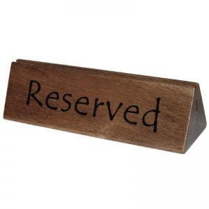 Tischschilder 'Reserved'-0