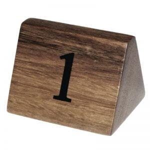 Houten tafelnummer set-0