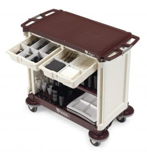 Minibartrolley with doors and 2 drawers-0
