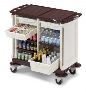 Minibartrolley 4 drawers & doors-0