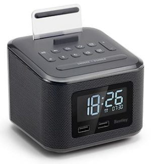 Hotel audio clock with dual USB and bluetooth-0