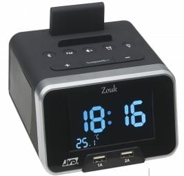 Hotel alarm clock with adjustable volume, dual USB and bluetooth-0