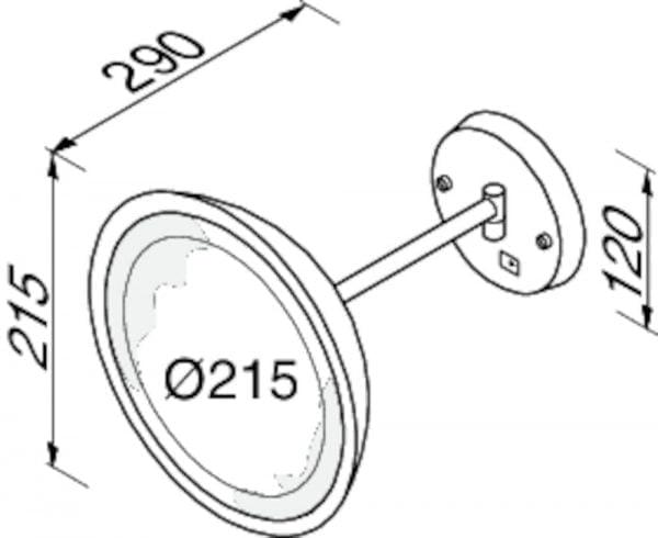 Scheerspiegel - eenarmig-5247