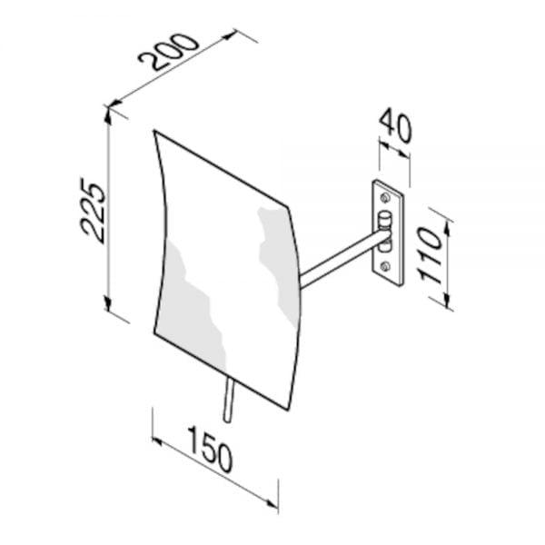 Scheerspiegel -5239