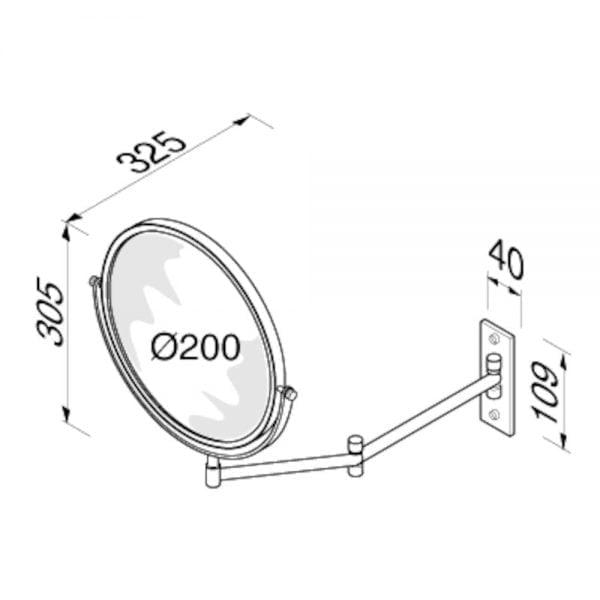 Scheerspiegel - 2 armig-5258