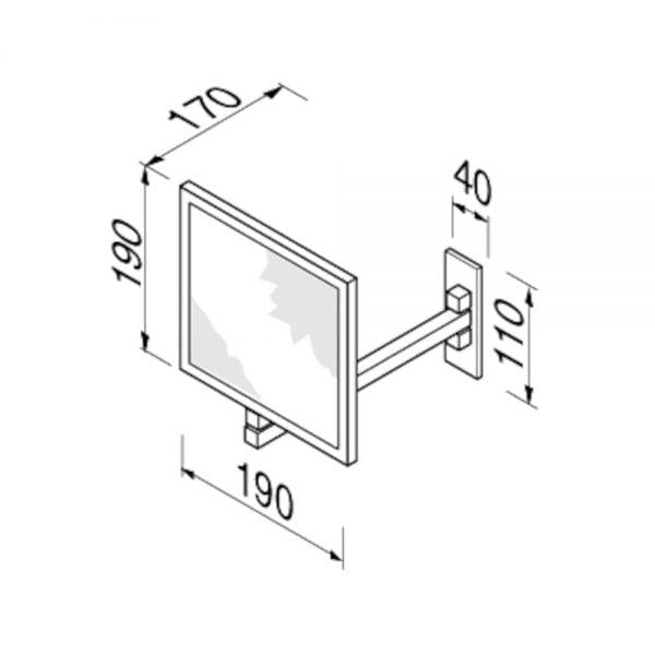 Vierkante scheerspiegel-5242