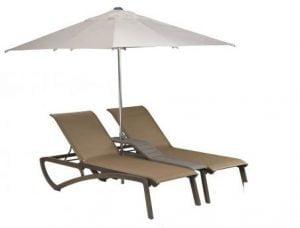 Ligbed dubbel incl. parasol-0