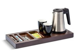 Houten tray met waterkoker-0
