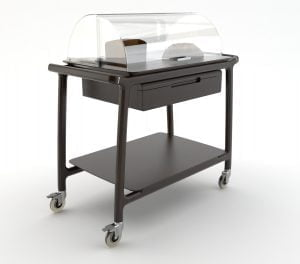 Cheese and dessert service trolley - 2/3 tiers-0