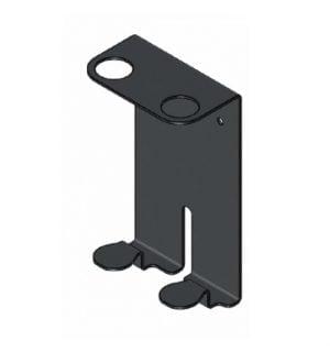 Dubbele metalen houder zwart-0