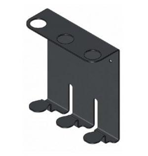 Metalen houder driedubbel zwart-0