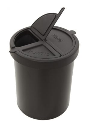 Waste bin with three compartments-0