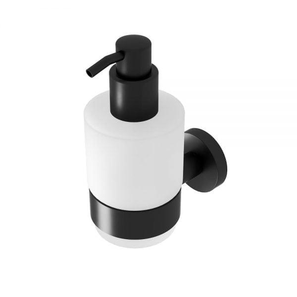 Zeepdispenser met zwarte houder-0