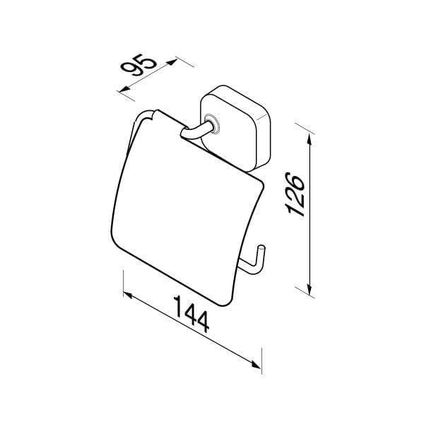 Toiletrolhouder met klep-6531