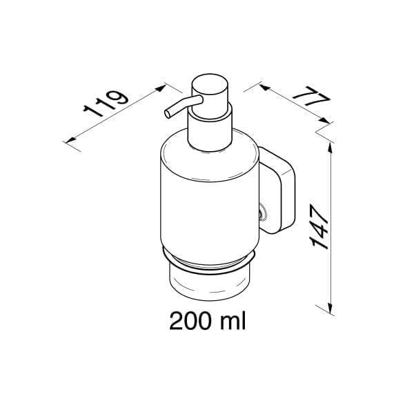 Zeepdispenser 200 ml-6519
