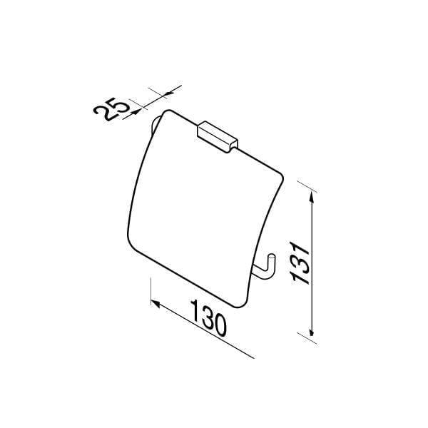 Toiletrolhouder met klep-6560
