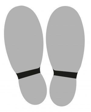 Vloersticker schoenvorm (10 stuks)-0